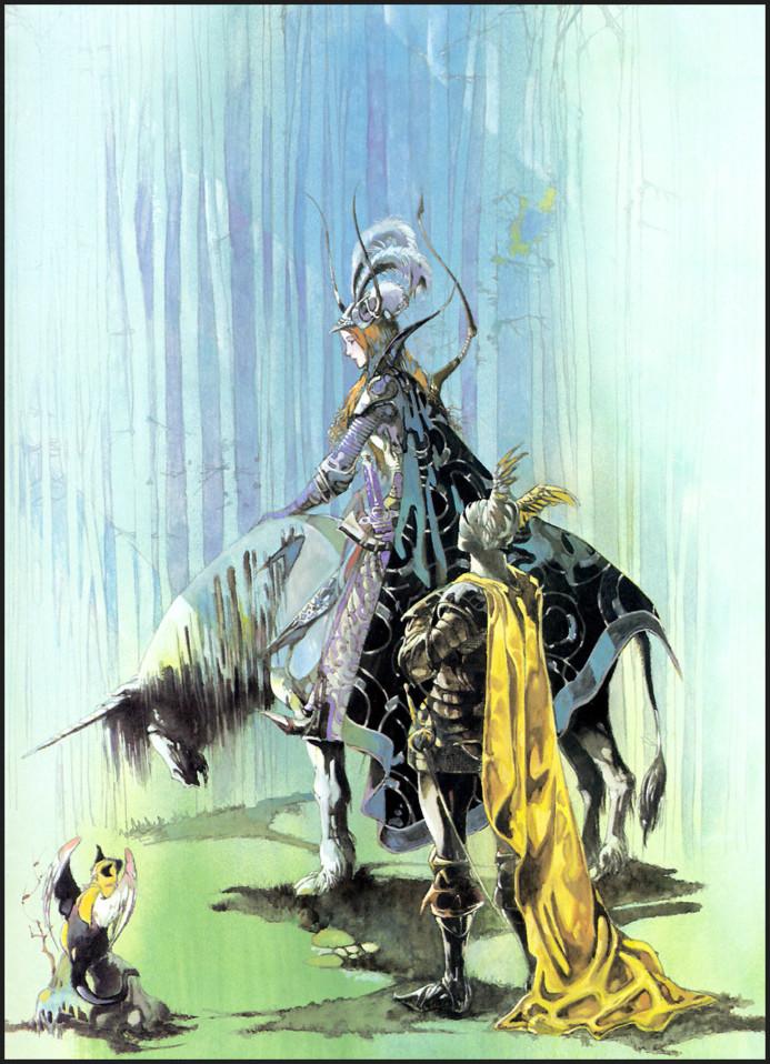 Knight of Fairy Township by Yoshitaka Amano (1984)